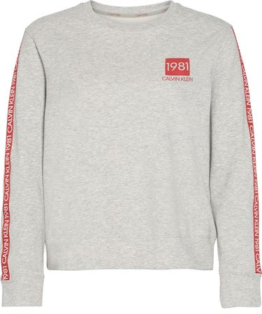 Bilde av Calvin Klein '1981 BOLD LOUNGE' sweatshirt, grey heather