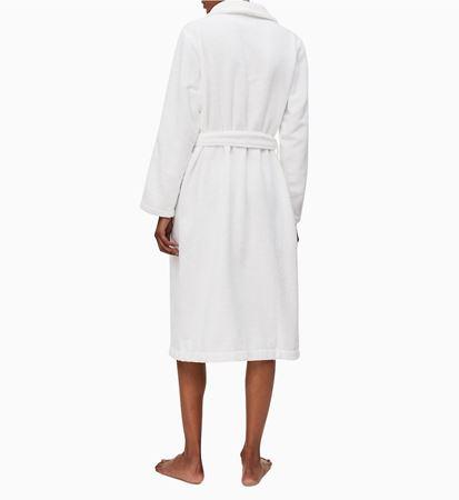 Bilde av Calvin Klein 'TERRY LOGO ROBE' morgenkåpe, white