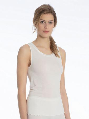 Bilde av Calida 'CONFIDENCE' ull/silke trøye, offwhite