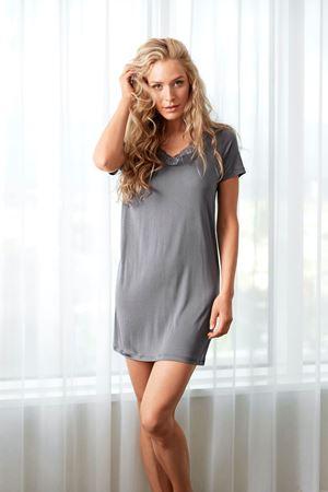 Bilde av Damella 'STRIKKET SILKE' kjole, anthracite