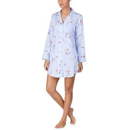 Bilde av Ralph Lauren 'LIFESTYLE' nattskjorte, blue print