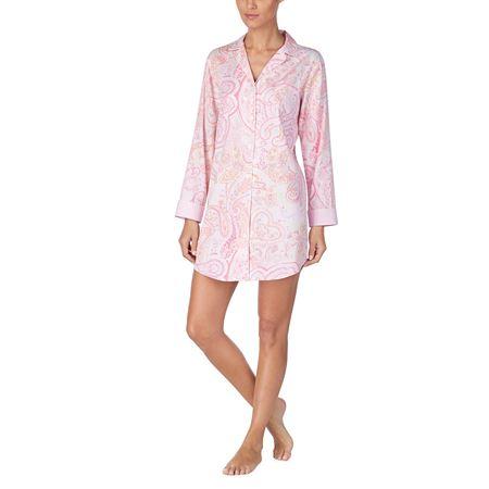 Bilde av Ralph Lauren 'LIFESTYLE' nattskjorte, pink print