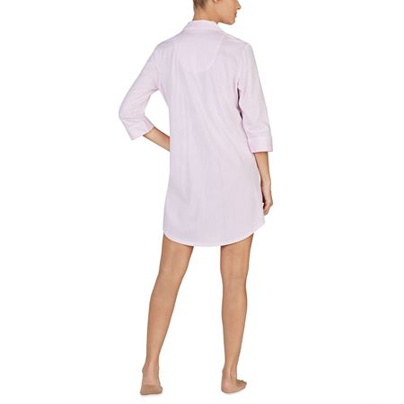 Bilde av Ralhp Lauren 'CLASSIC NOTCH SLEEPS' nattskjorte, pink stripe