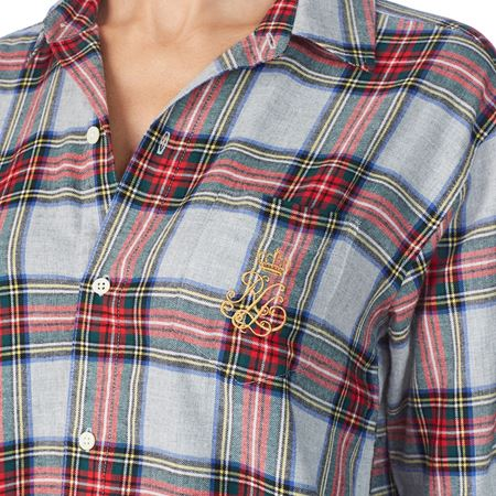 Bilde av Ralph Lauren 'HIS SLEEPSHIRT' nattskjorte, multi plaid