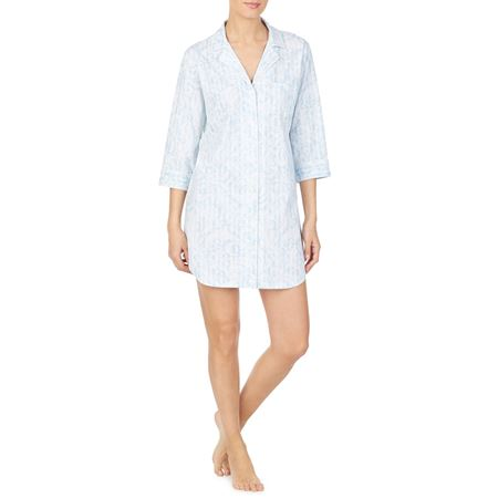 Bilde av Ralph Lauren 'NOTCH COLLAR' nattskjorte, blue print
