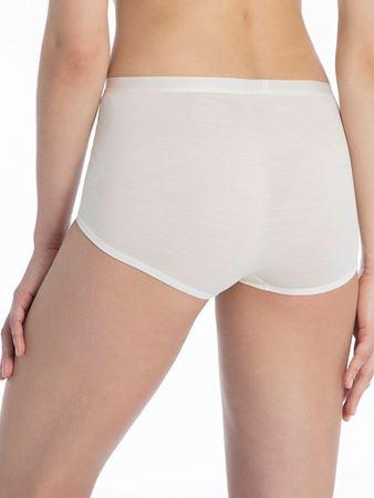 Bilde av Calida 'TRUE CONFIDENCE' ull/silke panty, cream white