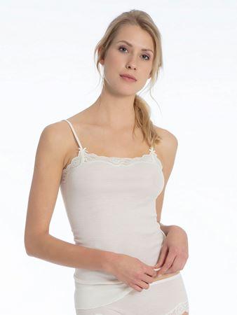 Bilde av Calida 'RICHESSE LACE' ull/silke trøye, cream white