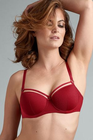 Bilde av Marlies Dekkers 'SPACE ODYSSEY' balconette-BH, lurex red