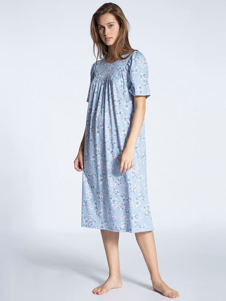 Bilde av Calida 'SOFT COTTON' nattkjole, forever blue