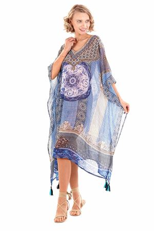 Bilde av Iconique kaftan, blue