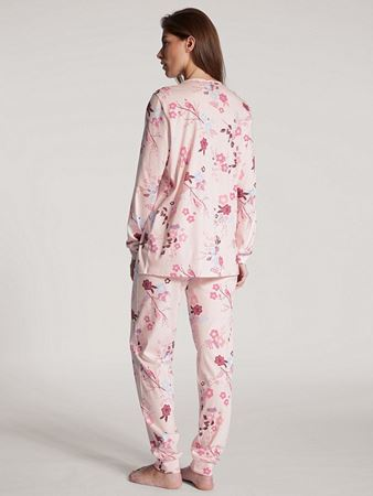 Bilde av Calida 'COSY COTTON NIGHTS' pysjamas, barely rose print