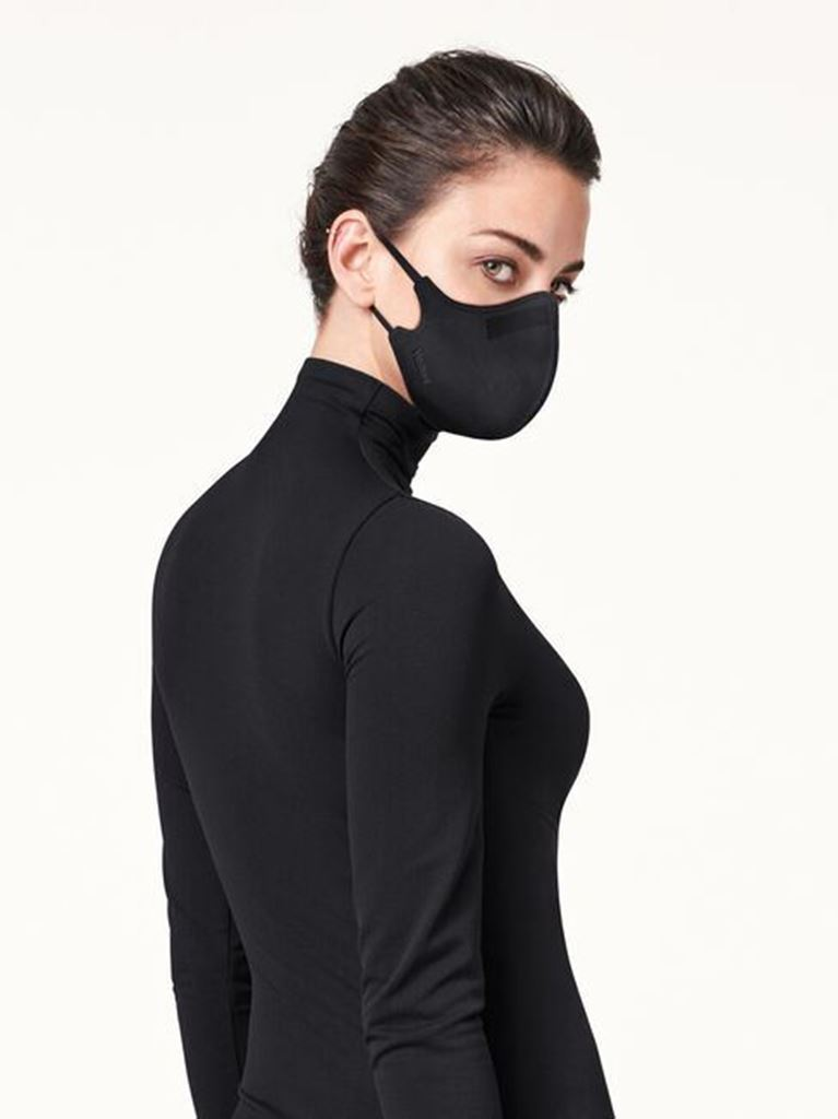 Bilde av Wolford 'CARE MASK' munnbind, black
