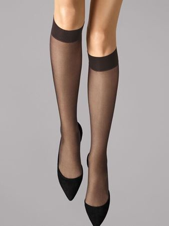 Bilde av Wolford 'SATIN TOUCH 20' knestrømper, nearly black