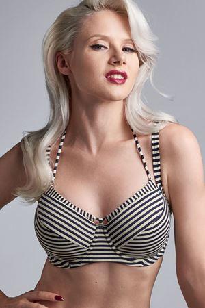 Bilde av Marlies Dekkers 'HOLI VINTAGE' bikinioverdel, blue ecru