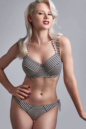 Bilde av Marlies Dekkers 'HOLI VINTAGE' bikinibrief, blue ecru