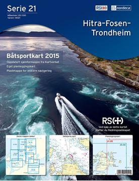 Bilde av Båtsportkart Serie 21 Hitra-Fosen-Trondheim
