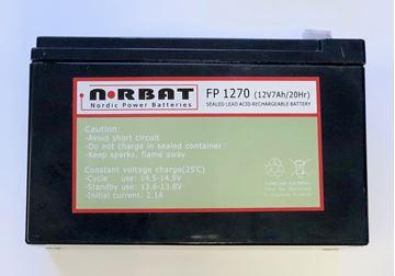 Bilde av Norbat AGM batteri 12v 7ah