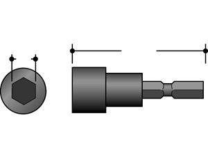 Bilde av Mutterpipe magnetisk