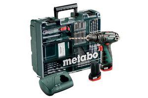 Bilde av Metabo PowerMaxx SB Basic Set, slagbormaskin, 2 x 2,0Ah, lader m/tilbehør 69 deler og koffert