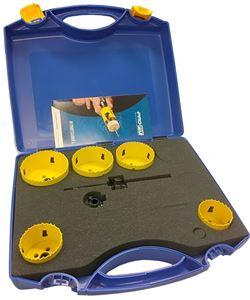 Pro-Fit hullsagsett Classic med 8 hullsager og verktøy